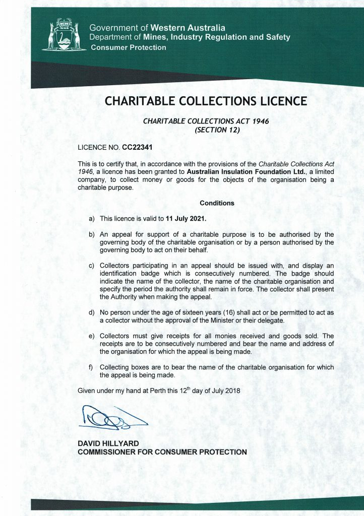 Charity Licence